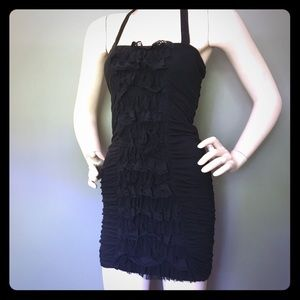 Cutest black ruffled party dress 🎉